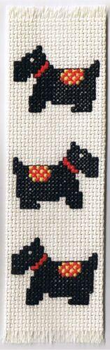 Counted Cross Stitch Kit Scottie Dog Bookmark