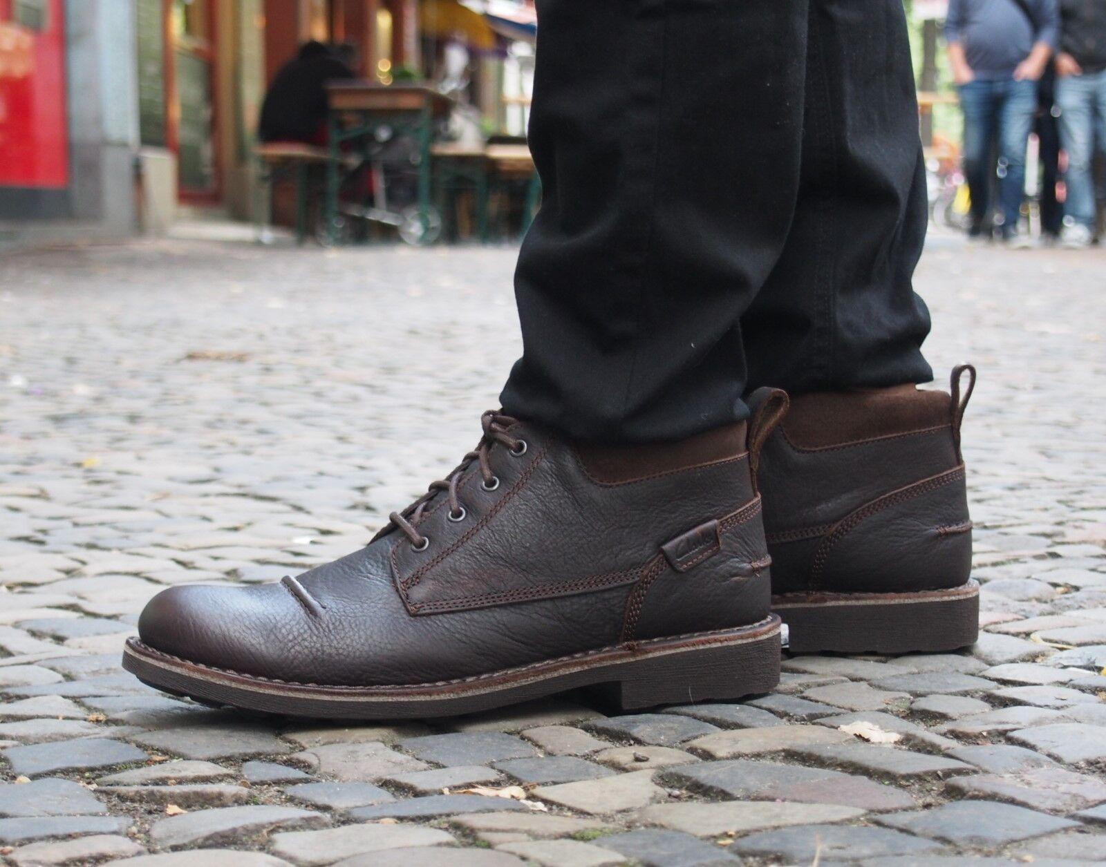 Clarks Originals Schuh Lawes Top brown Echtleder Herrenschuh Schnürboot neu SALE