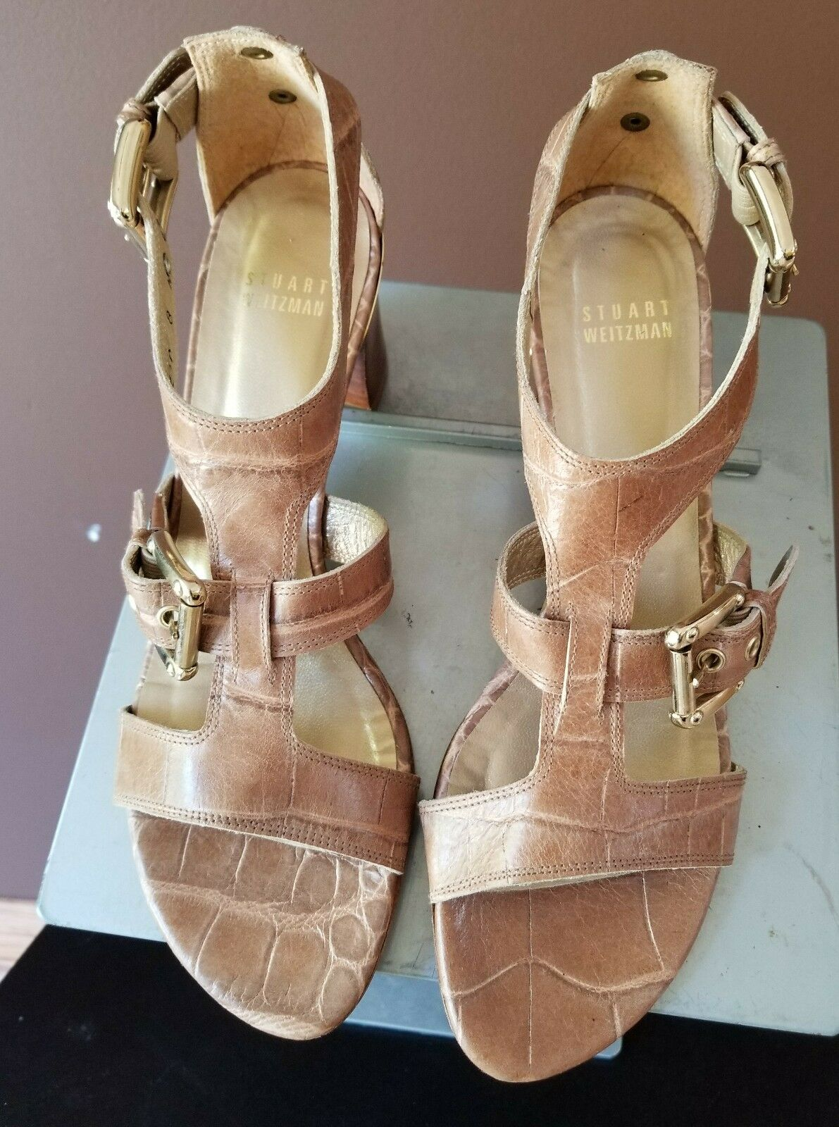 Stuart Weitzman  brown sandals, Sz 8 N