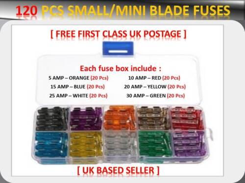 120PCS Isuzu Mini Lame Assortiment fusibles box 5 10 15 20 25 30 AMP *