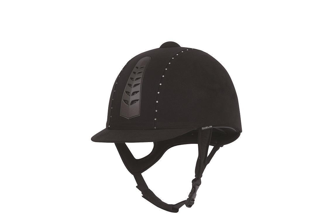 Dublino Pro argentoo Diauomote Equitazione Cappello Imbottito Imbracatura in pelle scamosciata esterno PAS015