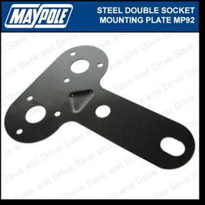 Maypole doble zócalo de metal placa de montaje remolque remolque caravanas enganche MP92