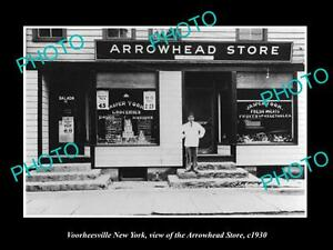 OLD-LARGE-HISTORIC-PHOTO-OF-VOORHEESVILLE-NEW-YORK-THE-ARROWHEAD-STORE-c1930