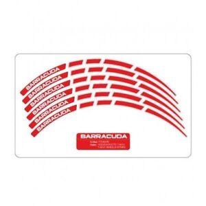 Barracuda Kit Completo Adesivi Rossi Cerchi Ruote Per Tutte Le Moto Cr&s Dprtvkvs-07221237-683969643
