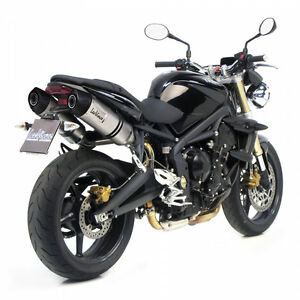 8567e silencieux d 39 chappement leovince lv one triumph street triple 675 2011 ebay. Black Bedroom Furniture Sets. Home Design Ideas