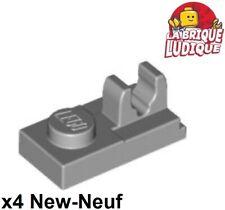 LEGO 30 x Platte Clip oben neuhell grau Light Bluish Gray Plate 1x2 Clip 92280