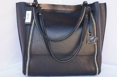 New Botkier Soho Big Zip Tote Black Bag Shoulder Handbag Holiday Gift Sale 7e7f87e97bcb9