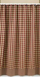 Shower Curtain York In Wine By Park Designs Bathroom