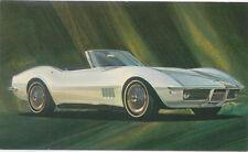 Chevrolet Corvette 1968 Reprint of original Postcard by Mid America Enterprises