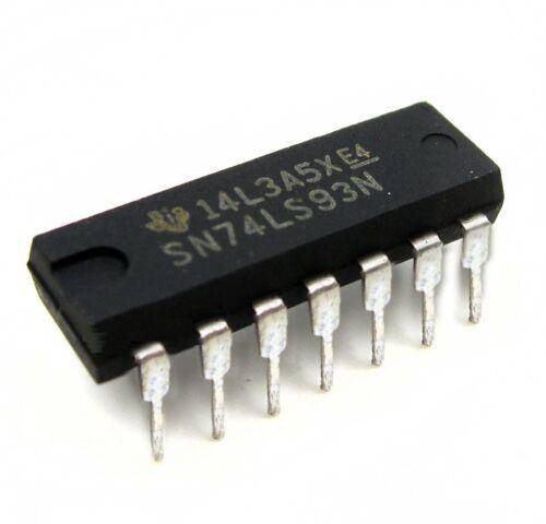 10 PCS NEW SN74LS93N 74LS93 TI IC 4-BIT BINARY COUNTER 14-DIP