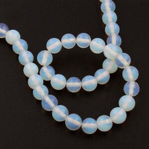 MONDSTEINE-Perlen-Edelstein-Halbedelstein-Kugel-Beads-Gem-New-6mm-65-Stk-D90