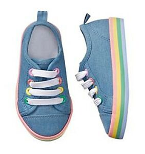 Gymboree-Girls-Chambray-Sneakers-10-12-13-1-NWT