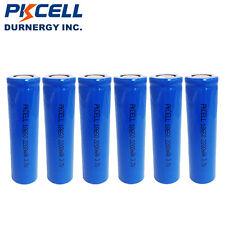 6 x 18650 Vape Rechargeable Li-ion Battery 2200mAh 3.7V Unprotected Flat Top