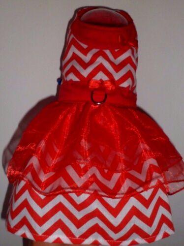 Robe de chien Chevron rouge pour petit Chihuahua, race de jouet, Teckel Xxs-m