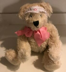 Vintage-Johanna-Haida-100-Mohair-Jointed-Teddy-Bear-034-Snowball-034-with-Growler