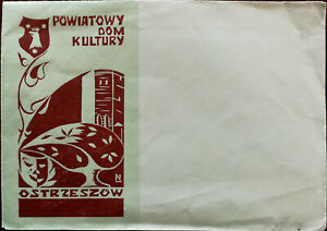 Poland-District-House-of-Culture-in-Ostrzeszow-Vintage-Envelope
