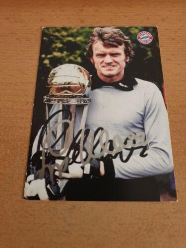 Sepp Maier Autogrammkarte FC Bayern München 19//20 original signiert