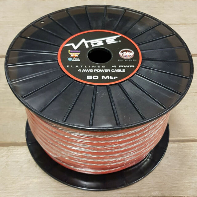 VIBE FLATLINE 4 AWG POWER CABLE 50m ROLL 4 Gauge