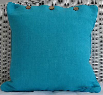 """SCATTER CUSHION COVER - """"TURQUOISE"""" 40 X 40CM COUCH, THROW PILLOW COVER"""