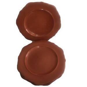 "threshold wellsbridge Brick Stoneware Set Of Four Dinner Plates 10.5"" EUC"