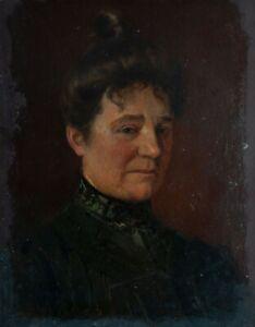 Unbekannter Künstler - Weibliches Porträt - Öl auf Malpappe - o. J.