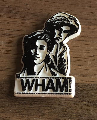 Set Of 4 Vintage Style George Michael Wham Button Pin Bagdes
