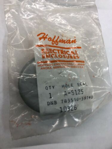 "Hoffman A-S125 Hole Seal Nema 4X KO Enclosure 1-1//4/"" Conduit Knockout Plug 1.25"