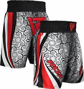 RDX-Boxing-Shorts-Mens-Trunks-MMA-Kickboxing-Training-Running-Gym-Sports-Grey