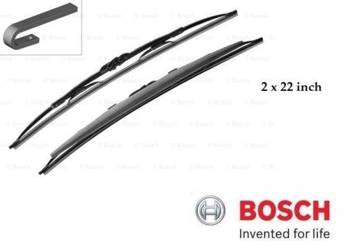 Set 550 mm New Bosch Super Plus Front Wiper Blades 2 x 22 inch - SP22//22S