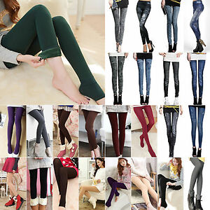 Womens-Warm-Winter-Fleece-Lined-Thermal-Thick-Skinny-Slim-Leggings-Stretch-Pants