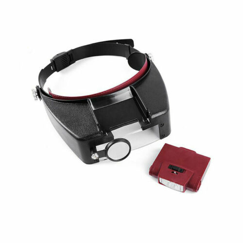10X Magnifying Glass Head Band Magnifier with LED Light Repair Tool Loupe/_s P3X7