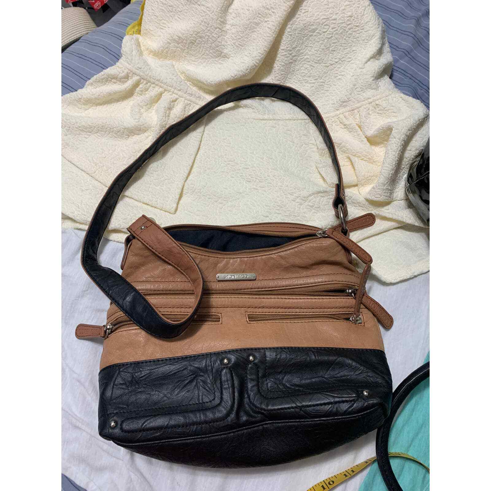 Stone & Co black/brown leather purse