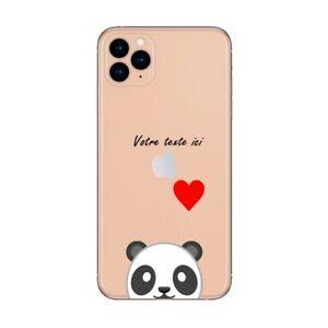 Coque Iphone 12 PRO MAX panda emojii personnalisee