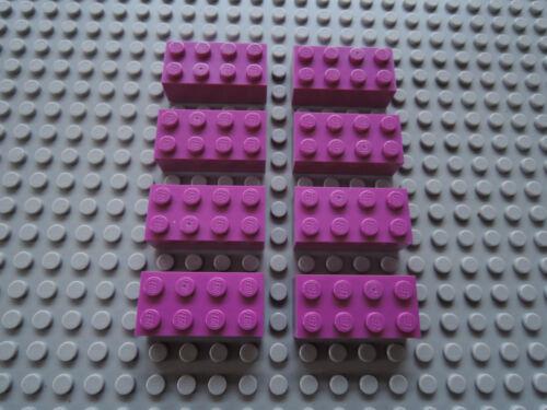 LEGO 8 x Stein 3001 dark pink  Friends  Belville Paradisa  2x4