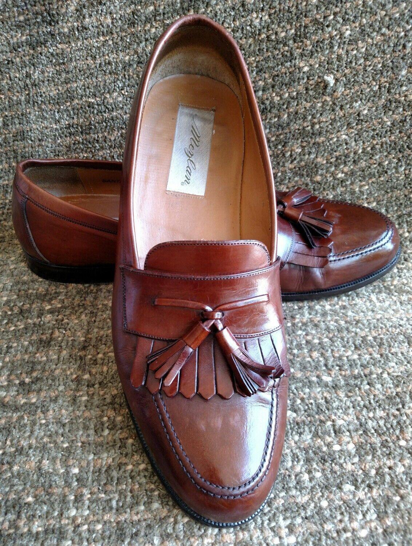 Mezlan Santander Brown handcrafted Tassel Loafers size 9.5