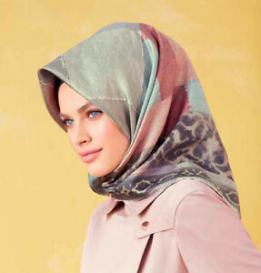 Details About Islamic Women S Hijab Armine Turkish Silk Scarf Fall 2018 8044 Multicolored