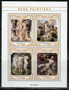 SIERRA-LEONE-2020-NUDE-PAINTINGS-SHEET-MINT-NH