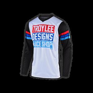 6 Adult Sizes Troy Lee Designs GP MONO Solid Black Off-Road MX BMX Jersey