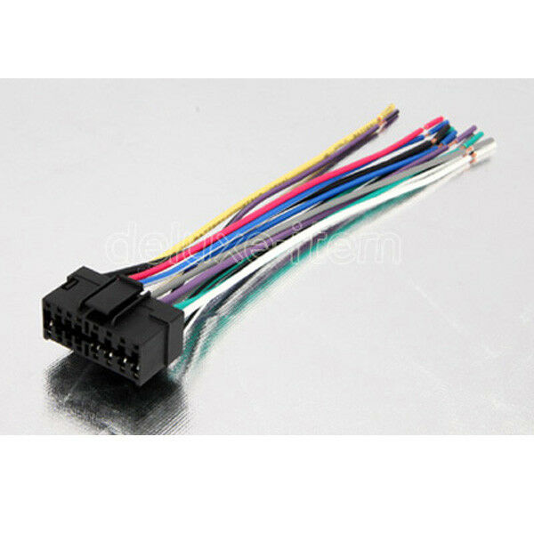 Sony Car Stereo Radio Wire Wiring Harness Connector Cable Cdx-gt330 ...