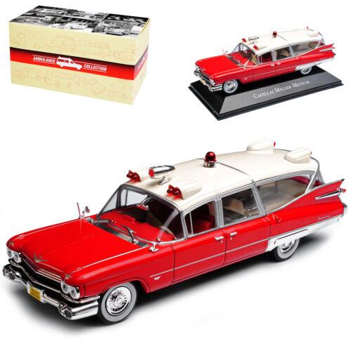 Cadillac Miller Meteor Ambulance Rot Weiss 1//43 Atlas Modell Auto mit oder ohn..