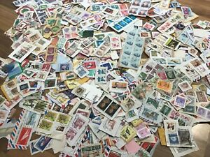World-Foreign-stamps-on-clipped-down-paper-Kiloware-FREE-UK-POSTAGE-E7