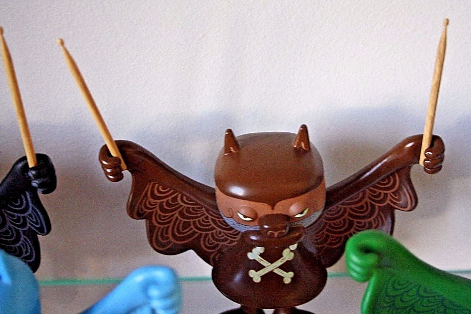 BWANA SPOONS Super7 Designer Toy STEVEN THE BAT 5  braun Metal Is My God