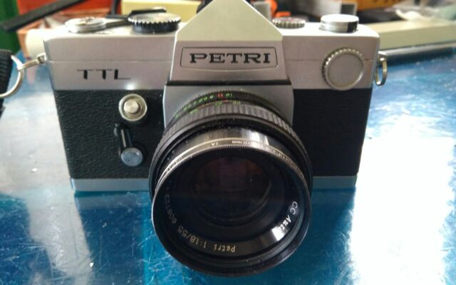 PETRI TTL camera vintage + obiettivo PETRI 55mm f1.8 attacco M42