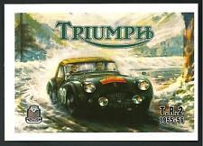 Triumph TR2  (1955 - 1956) - riproduzione su cartolina di pubblicità d'epoca