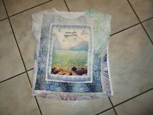 schönes T-Shirt HERE & THERE by C&A Gr.158/164 weiß blau bunt