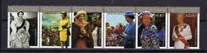 11878) New Zealand 2001 QEII Birthday - Strip Of 6 MNH