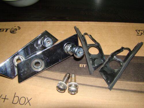 Mazda MX5 MK1 MK2 Offside Hardtop Fixing Chrome Deck Plates /& Frankenstein Bolts