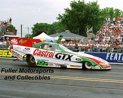 JOHN FORCE 2000 CASTROL GTX FORD MUSTANG NHRA FUNNY CAR 8X10 PHOTO COLUMBUS OHIO