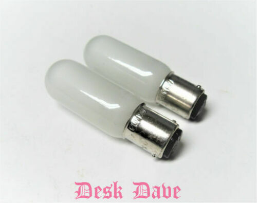 2 New Long Frosted Push-In Sewing Machine Light Bulbs for ELNA AIR ELECTRONIC+