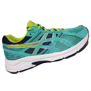 ASICS-WOMENS-Shoes-Contend-3-Cockatoo-Neon-Lime-amp-Dark-Navy-T5F9N-3889